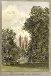 New College Gardens, Oxford, 27 July 1848